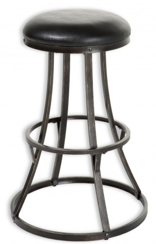 "Dover Blackened Bronze and Black 30"" Barstool"