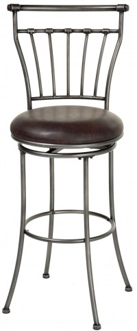 "Topeka Striated Silver and Coffee 30"" Barstool"