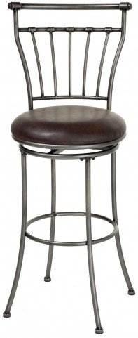 "Topeka Striated Silver and Coffee 26"" Barstool"