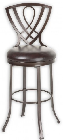 "Lincoln Brown Crystal and Chocolate 30"" Barstool"