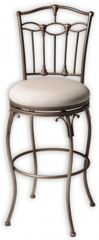 "Concord Brushed Bronze and Linen 30"" Barstool"
