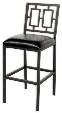 "Lansing Coffee and Black 30"" Barstool"