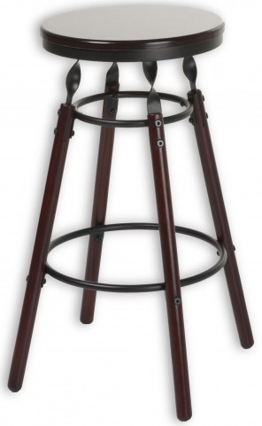 "Boston Dark Cherry and Charcoal 30"" Barstool"