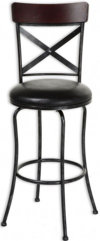 "Austin Dark Cherry and Black Fleck 30"" Barstool"