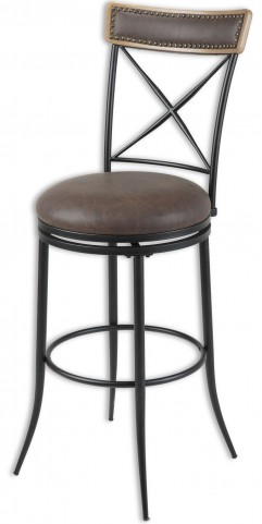"Boise Fruitwood and Charcoal 26"" Barstool"