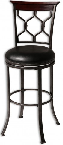 "Tallahassee Dark Cherry and Heritage Silver 30"" Barstool"