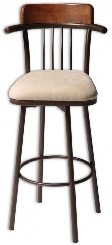 "Augusta Chestnut and Hammered Copper 30"" Barstool"