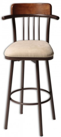 "Augusta Chestnut and Hammered Copper 26"" Barstool"