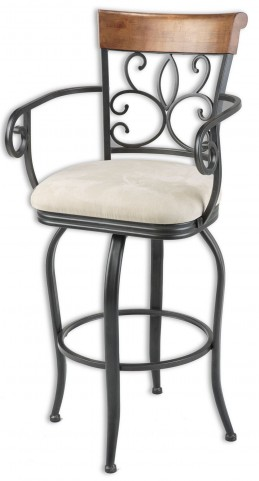 "Hartford Chestnut and Dark Roast 30"" Barstool"