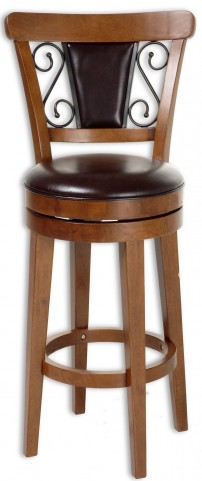 "Trenton Nutmeg and Ember and Brown 30"" Barstool"