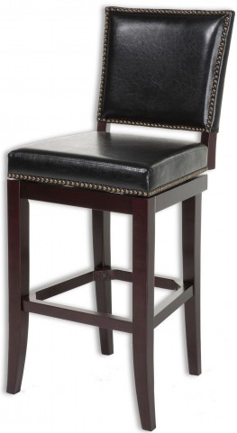 "Sacramento Espresso and Antique Brass 30"" Barstool"