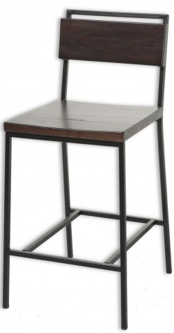 "Olympia Black Cherry and Black Matte 26"" Barstool"