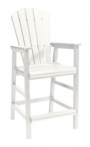 Generations White Adirondack Dining Pub Arm Chair