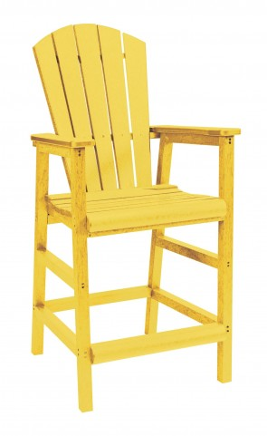 Generations Yellow Adirondack Dining Pub Arm Chair