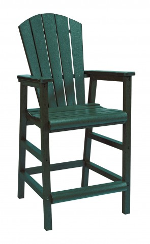 Generations Green Adirondack Dining Pub Arm Chair