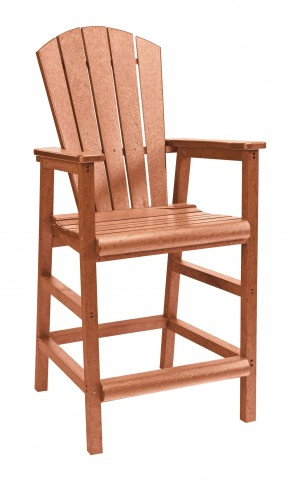 Generations Cedar Adirondack Dining Pub Arm Chair