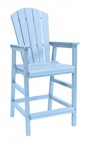 Generations Sky Blue Adirondack Dining Pub Arm Chair