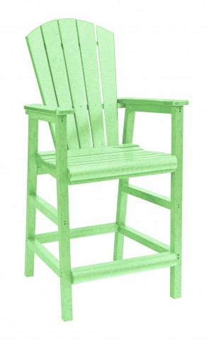 Generations Lime Green Adirondack Dining Pub Arm Chair
