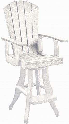 Generations White Swivel Pub Arm Chair