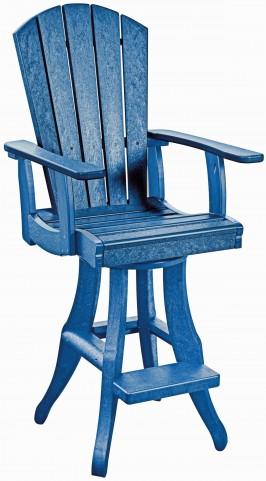 Generations Blue Swivel Pub Arm Chair