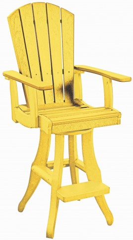 Generations Yellow Swivel Pub Arm Chair