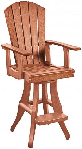 Generations Cedar Swivel Pub Arm Chair