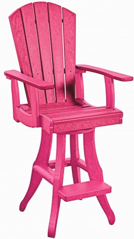 Generations Fuschia Swivel Pub Arm Chair