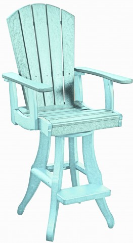 Generations Aqua Swivel Pub Arm Chair