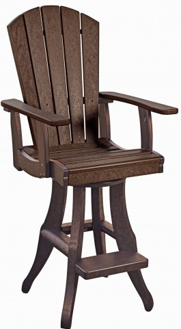 Generations Chocolate Swivel Pub Arm Chair