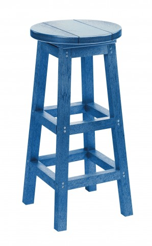 Generation Blue Swivel Bar Stool
