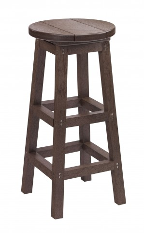 Generation Chocolate Swivel Bar Stool