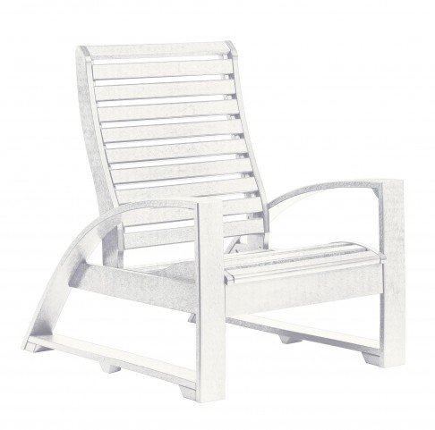 St Tropez White Lounger Chair