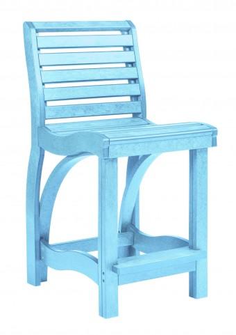 St Tropez Aqua Counter Chair