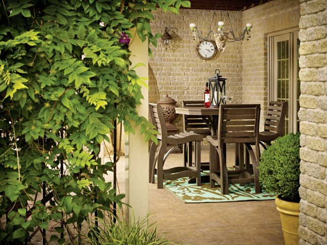 """St Tropez Chocolate 35"""" Square Counter Dining Room Set"""