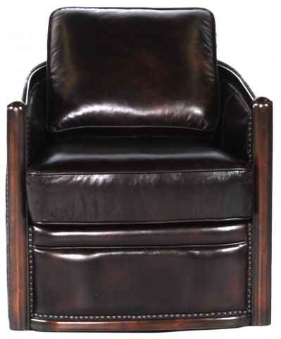 Lisbon Toberlone Leather Swivel Tub Chair