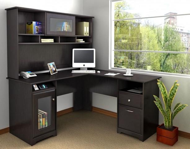 Cabot Espresso Oak L Home Office Set