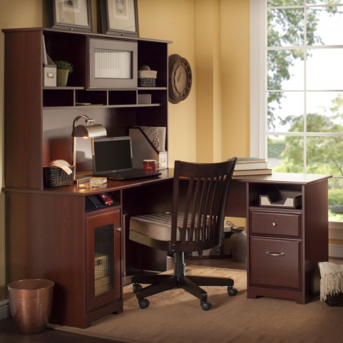 Cabot Harvest Cherry L Home Office Set