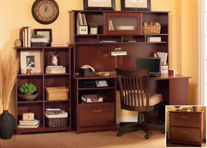 Cabot Harvest Cherry Corner Home Office Set