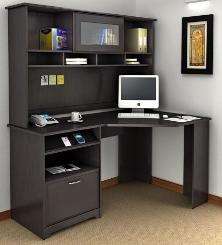 Cabot Espresso Oak Corner Home Office Set
