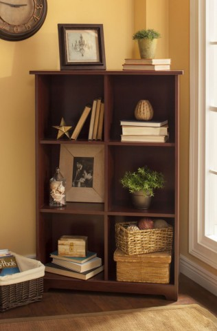 Cabot Harvest Cherry 6 Cube Bookcase