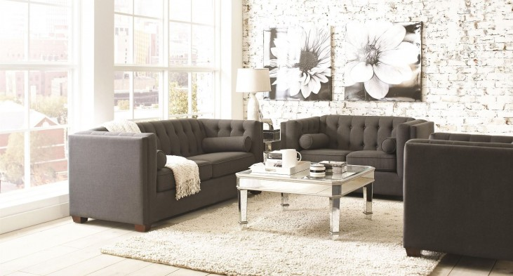 Cairns Charcoal Living Room Set