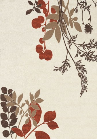 Camino Cream/Red/Brown Plant  Small Rug
