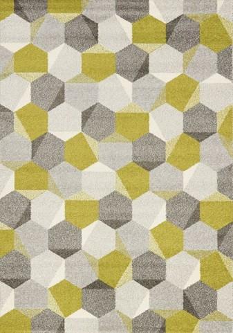"""Camino Green Grey Honeycomb 94"""" Rug"""