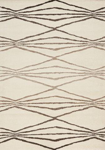 Camino Cream/Brown Gradient Diamond Medium Rug