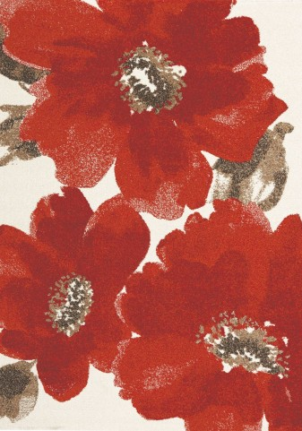 "Camino Red Flowers 63"" Rug"