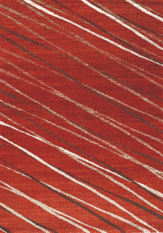 "Camino Diagonal Red Ribbons 47"" Rug"