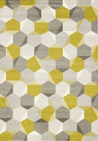 """Camino Green Grey Honeycomb 63"""" Rug"""