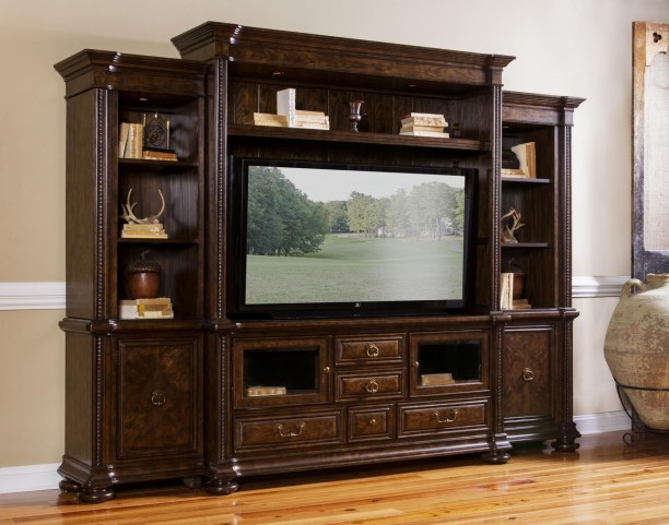 Canyon Creek Vintage Oak Entertainment Wall Unit