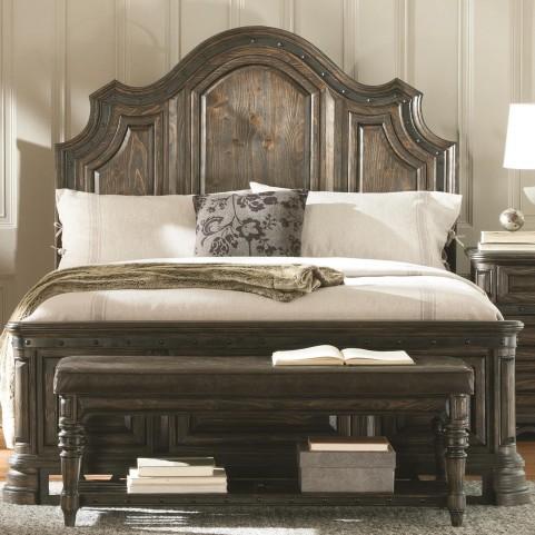 Carlsbad Dark Brown King Panel Bed