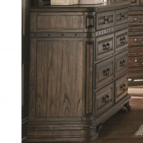 Carlsbad Dark Brown 8 Drawer Dresser